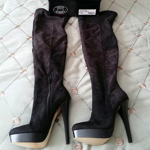 d097e98dc96 New 7 Steve Madden Mackenze Thigh High Suede Boots NWT